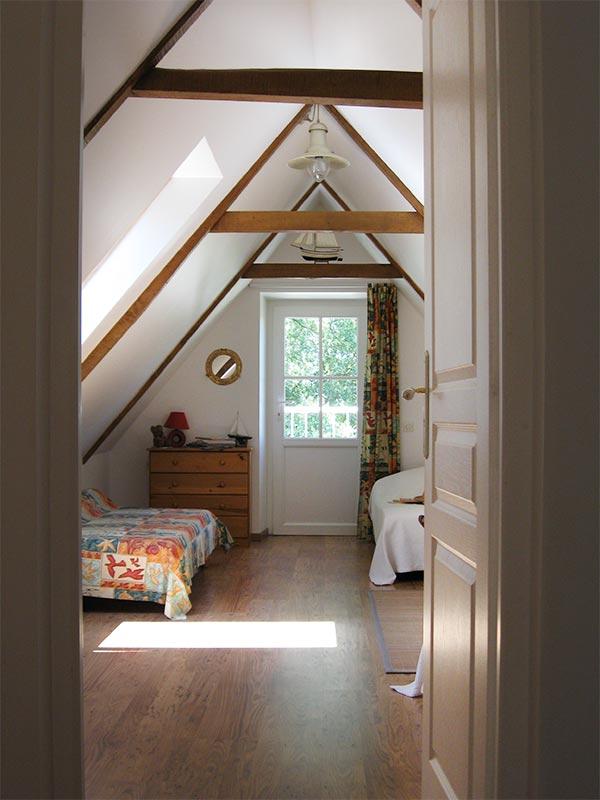 Entrée de la chambre 2 © Gite Les 3 Voiles
