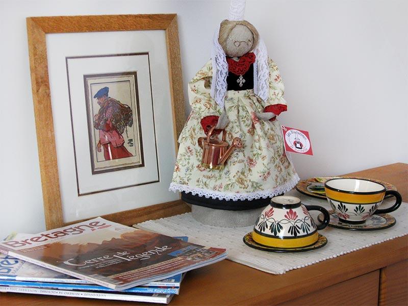 Chambre 1 décoration bretonne © Gite Les 3 Voiles