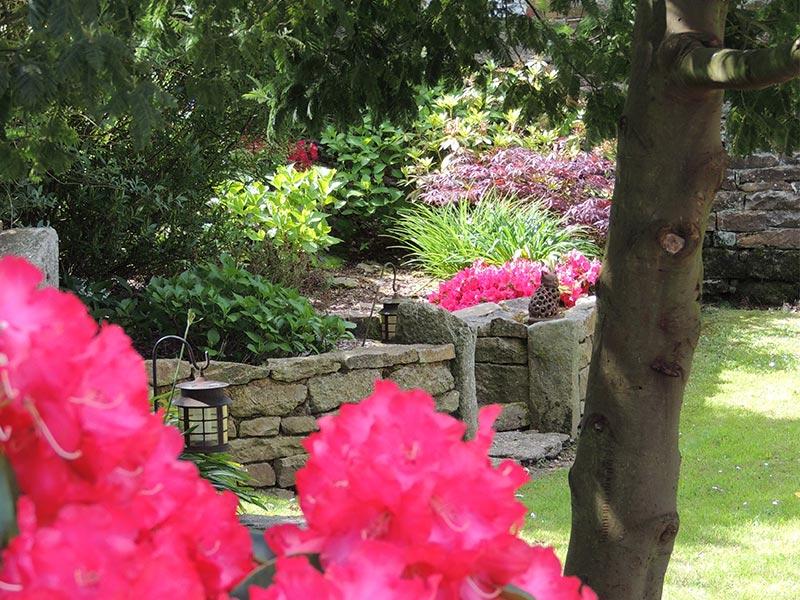 Rocaille et rhododendron © Gite Les 3 Voiles