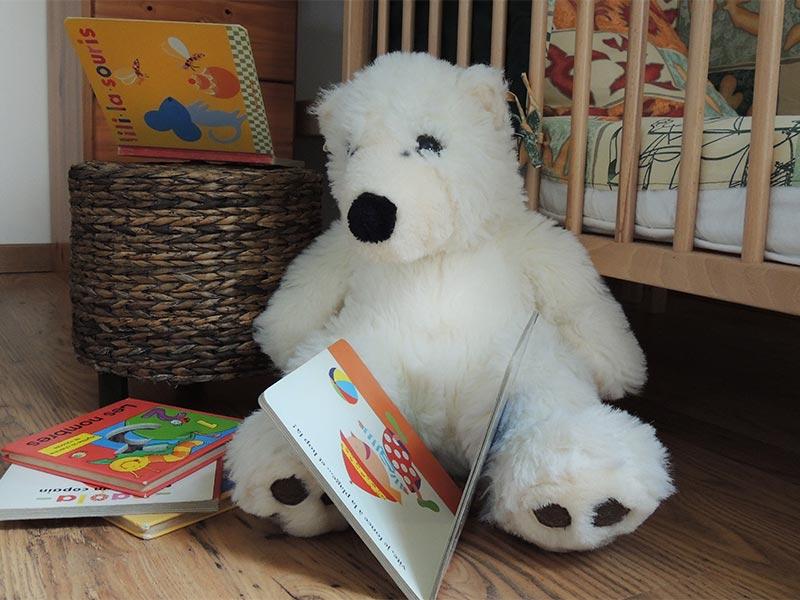 Nounours et livres pour enfants © Gite Les 3 Voiles